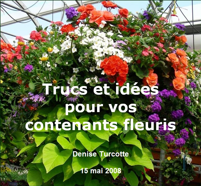 Confection de contenants fleuris